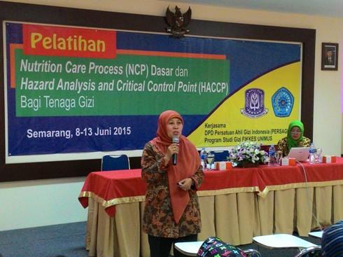 Pelatihan NCP dan HACCP Kerjasama Program Studi Gizi UNIMUS dan PERSAGI DPD Jateng