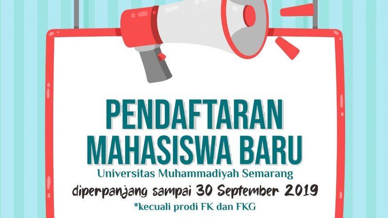 Pendaftaran Mahasiswa Baru Unimus sampai tanggal 30 September 2019