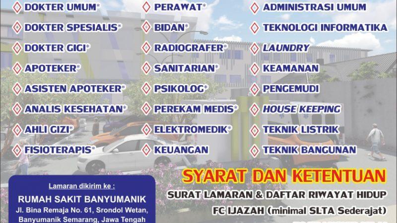 Informasi Lowongan Pekerjaan di RS Banyumanik Semarang