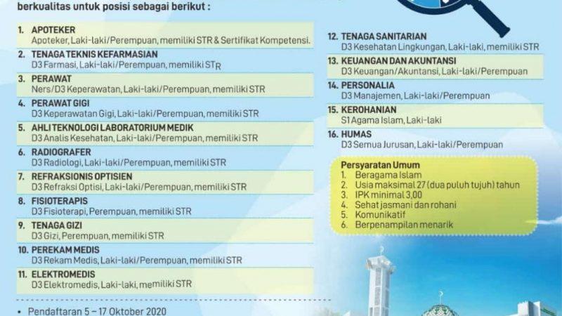 Informasi Perekrutan Tenaga Kesehatan di RS Islam Sultan Agung Banjarbaru Kalimantan Selatan