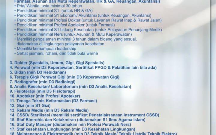 Informasi Lowongan pekerjaan di RS JIH Purwokerto Jawa Tengah